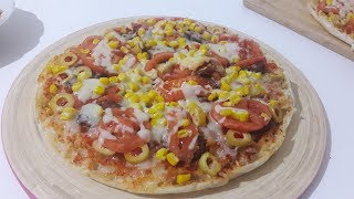 5 Dakika da Nefis Pizza Tarifi - Bazlamadan Pratik Pizza Tarifi