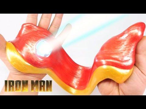DIY LED AVENGERS IRON MAN SLIME ! Steel Slime | MonsterKids