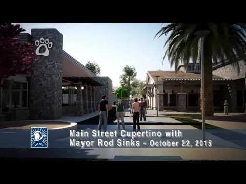 Main Street Cupertino with Cupertino Mayor Rod Sinks