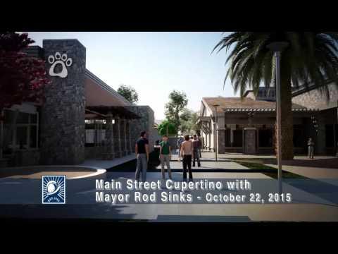 Main Street Cupertino with Cupertino Mayor Rod Sinks