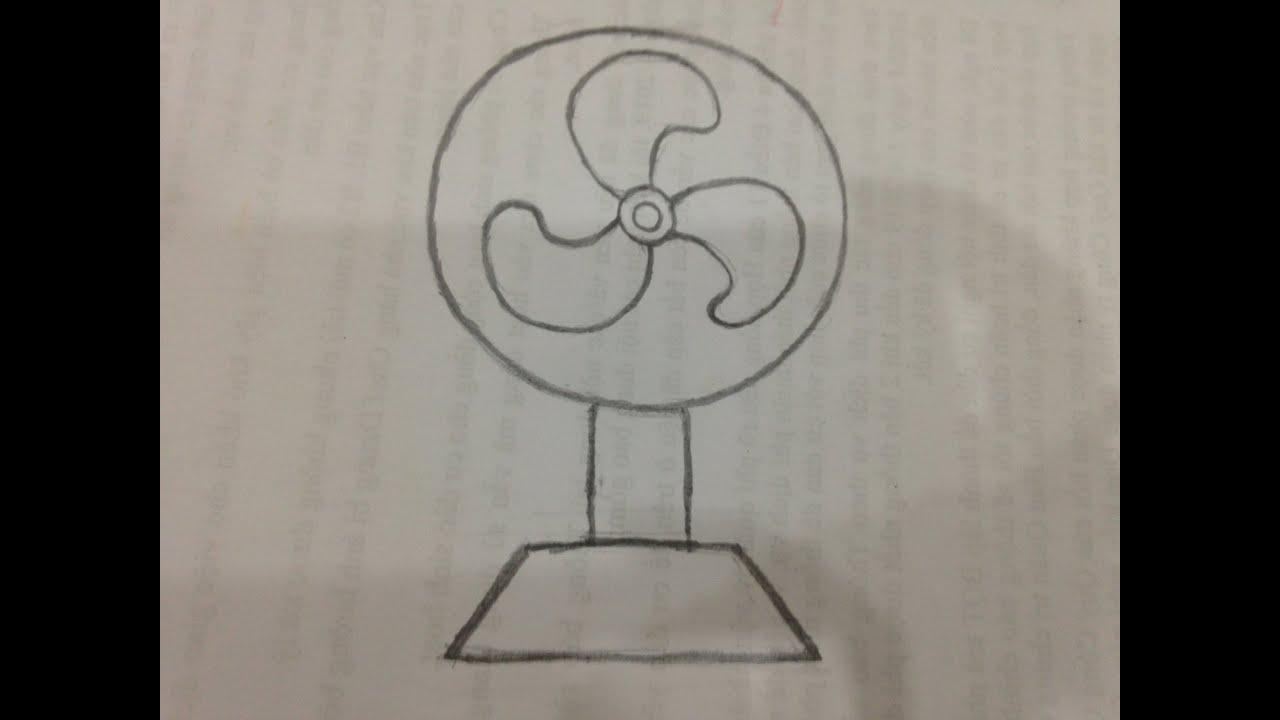Cách vẽ cái quạt điện đơn giản cho bé