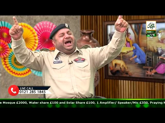 Saif ul malook on TAKBEER TV U.K | POLICE WALA NAAT KHAWAN on UK TOUR 2018