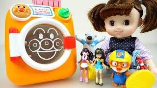 Washing Machine & Baby doll 뽀로로 콩순이와 호빵맨 세탁기 장난감놀이