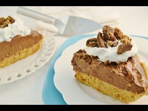 Chocolate Peanut Butter Pie Recipe - No Bake Double Layer Pie | RadaCutlery.com