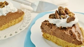Chocolate Peanut Butter Pie Recipe - No Bake Double Layer Pie | Radacutlery.com