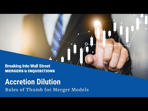 accretion dilution rules of thumb for merger models