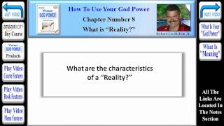 How To Use Your God Power® - Chapter 8 - What is Reality (Part 3 of 8)