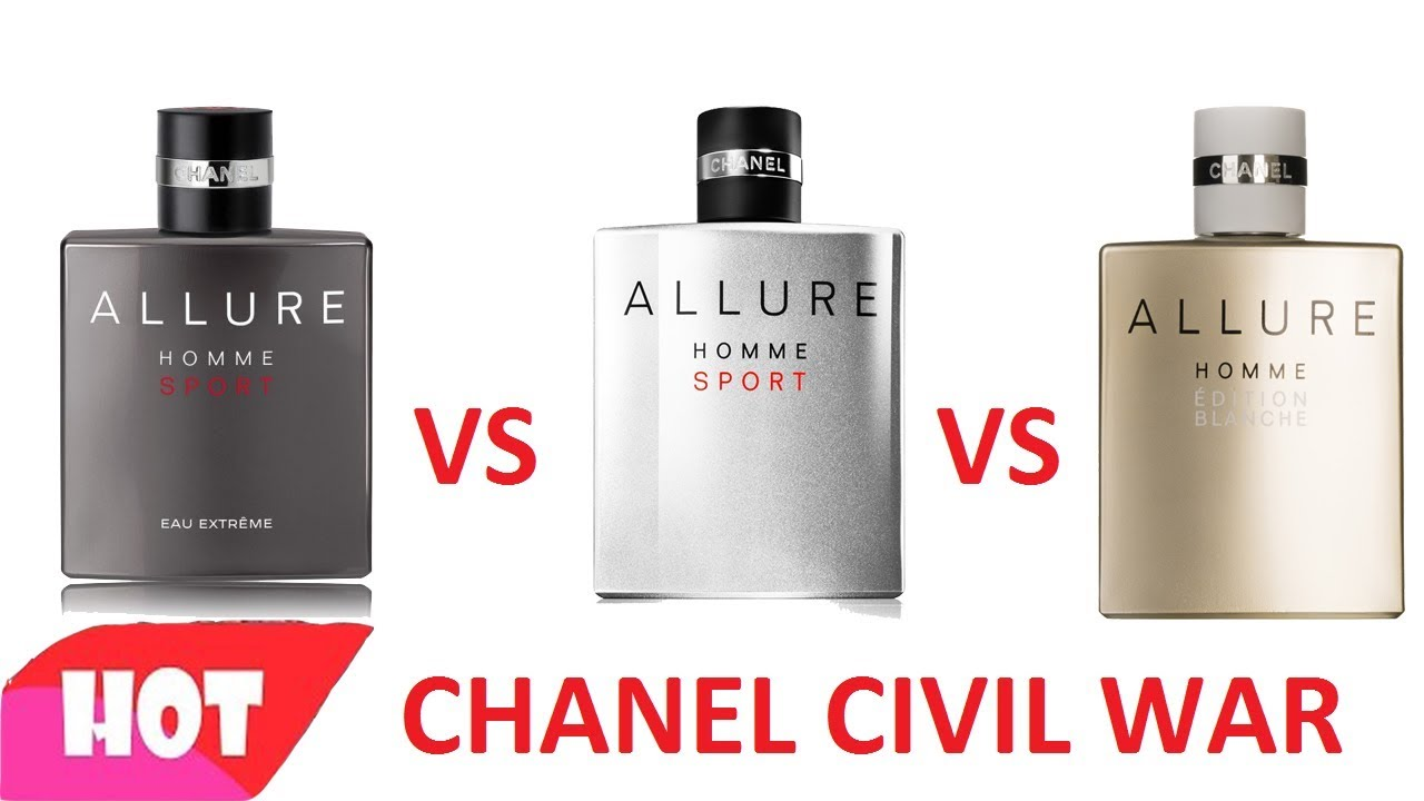 So sánh: Chanel Allure Homme Sport & Eau Extreme & Edition Blanche