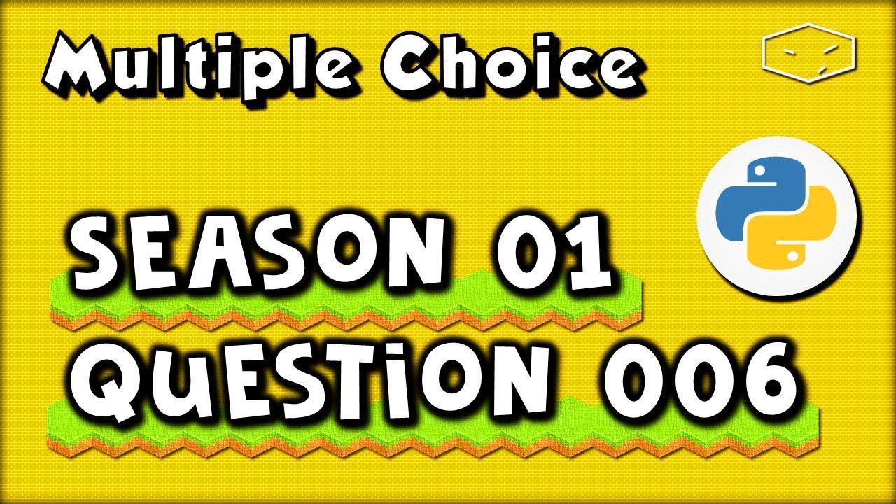 Python Multiple Choice