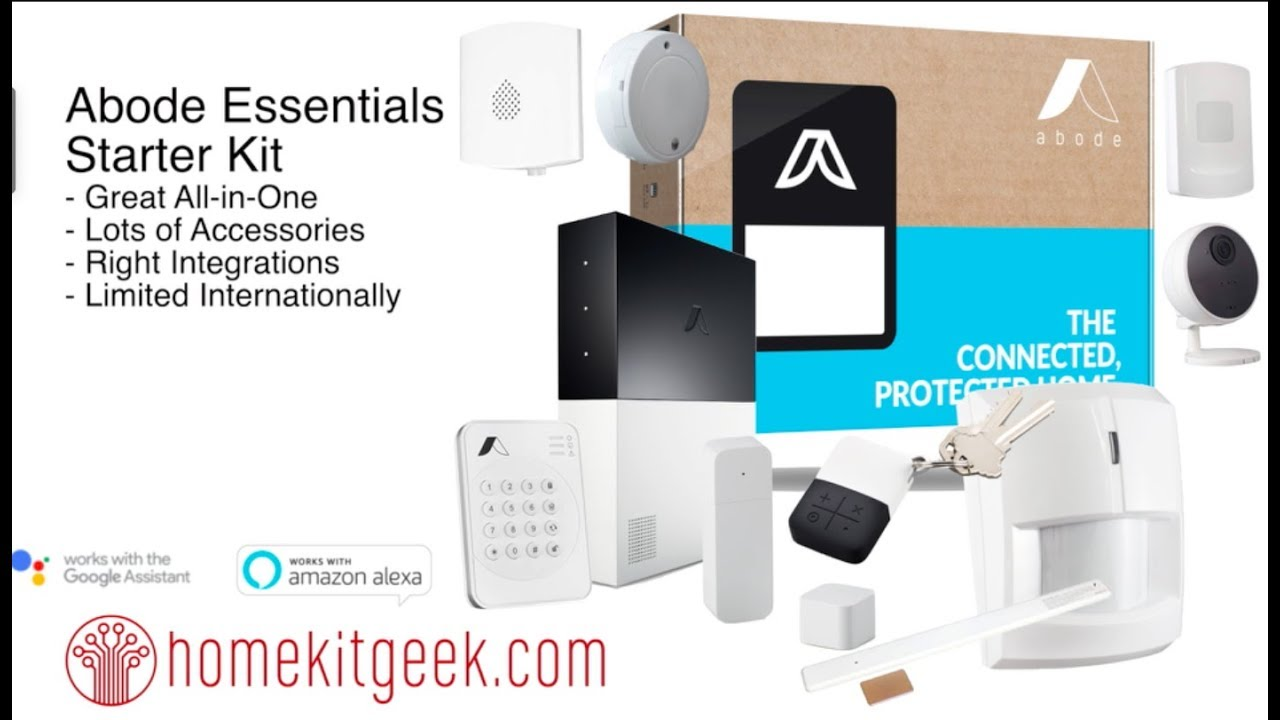 Compatible with Alexa /& Google Home Abode Essentials Starter Kit