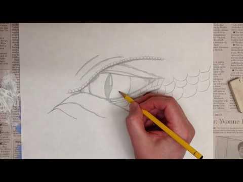 Drawing A Dragon's Eye