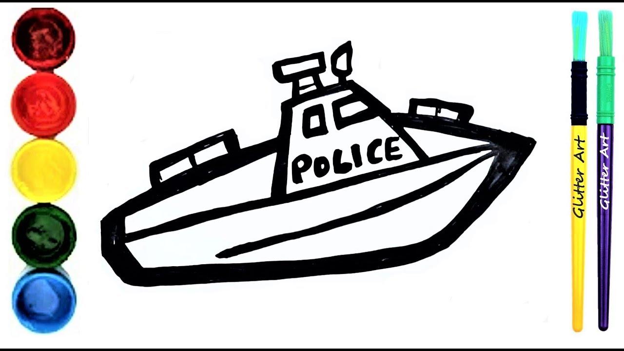 Malvorlage Polizei