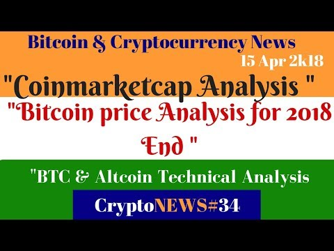 Crypto news #34, Bitcoin Altcoin price analysis, Bitcoin price Analysis for 2018 according to news