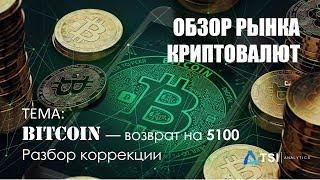 Bitcoin — возврат на 5100. Разбор коррекции | Обзор TSI Analytics
