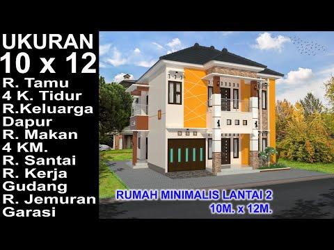 Modern House 10x12 4 K Tidur Desain Rumah Minimalis Lantai 2 Youtube