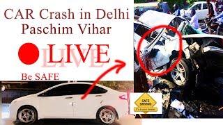 Car Accident in Delhi - Paschim Vihar Opp Jwala Heri market | Honda City Car Crash - Be Safe 🔥🔥