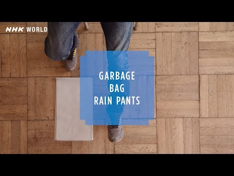 HOW TO CRAFT SAFETY #5 Garbage bag rain pants