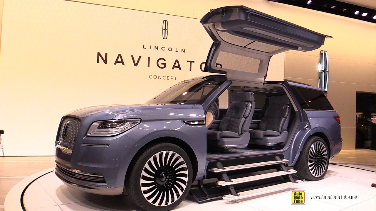 Lincoln navigator concept exterior and interior walkaround debut at 2016 new york auto show youtube