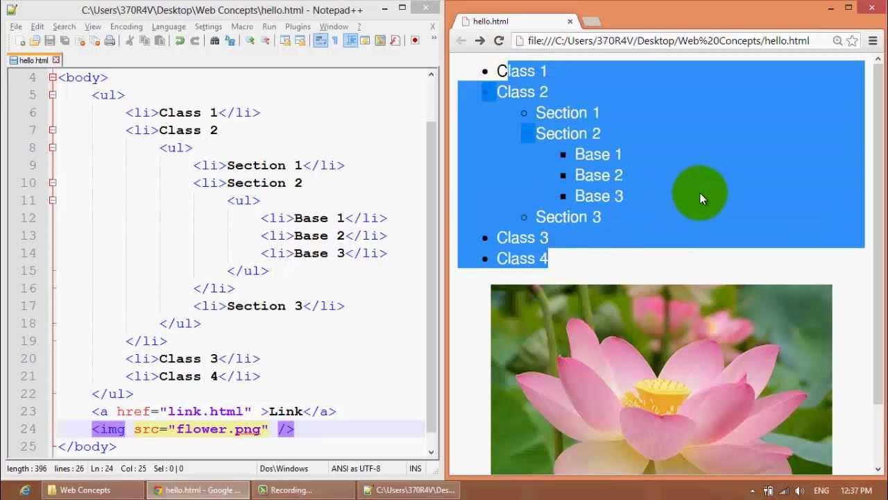 WEB100 - Web Concepts - More HTML Tag (ওয়েব কনসেপ্টস - আরো এইচটিএমএল ট্যাগ)