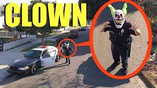 عندما ترى ضابط شرطة المهرج هذا ، لا تدعه يمسك بك! (تشغيل بعيدًا بسرعة)