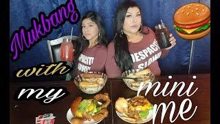Creamy cheesy Alfredo /mukbang with my mini ME