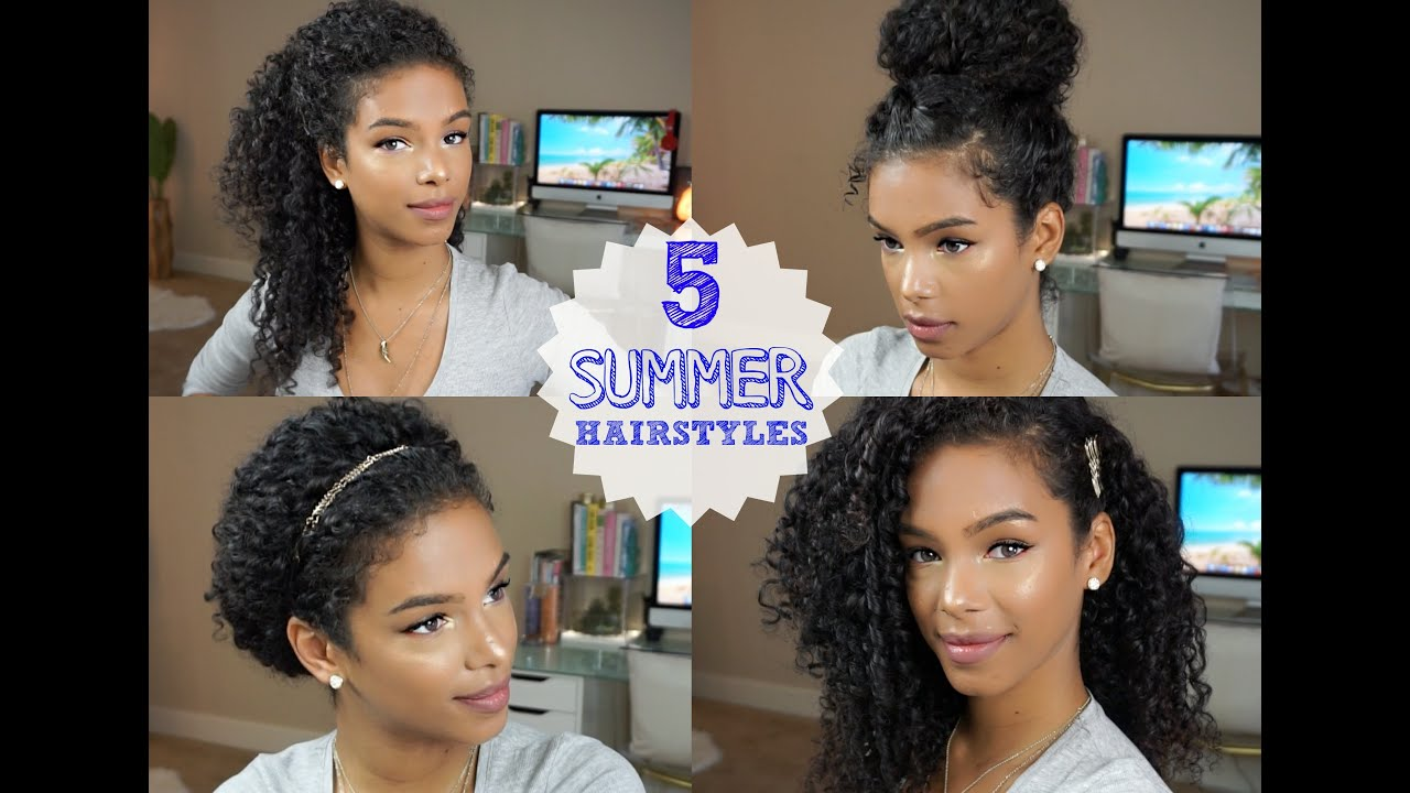 5 everyday curly hairstyles vol. 2 - youtube