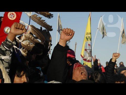 Dakota Access pipeline protesters celebrate after permit denied