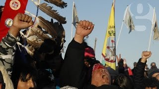 Dakota Access pipeline protesters celebrate after permit denied