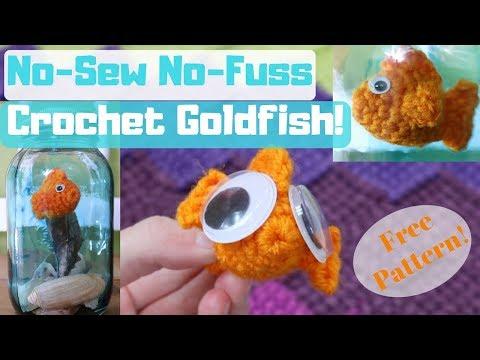 No-Sew No-Fuss Crochet Goldfish Pattern! Clear Tutorial