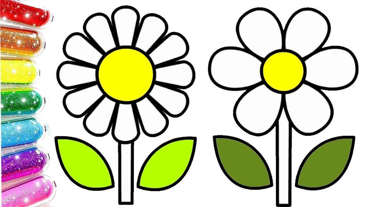 Renkli çiçek Boyama Renkleri öğreniyorum