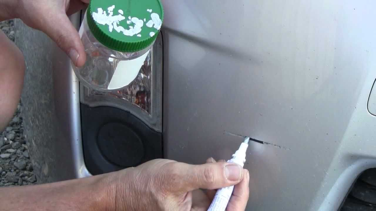 Car colour match pen - How To Use A Touch Up Paint Pen Bumper Paint Scratch Repair On A Toyota Prius Youtube
