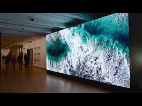 Digital Wave Installation at MASS MoCA | Clifford Ross | Landscape Seen & Imagined
