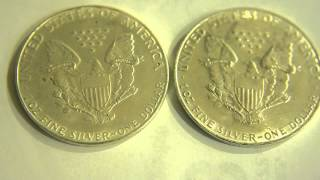 COUNTERFEIT COINS ~ FAKE SILVER DOLLARS, AMERICAN SILVER EAGLES, ETC