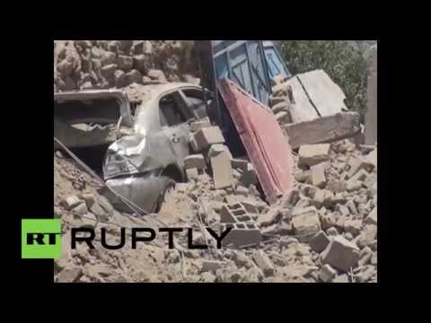 Yemen: Saudi-led airstrikes bombard Saada province, destroy shrine