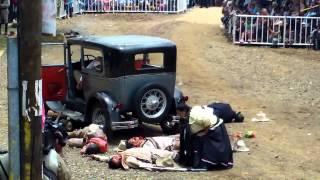 Pancho Villa, fué asesinado en Parral. Su escenificación en las Jornadas Villistas