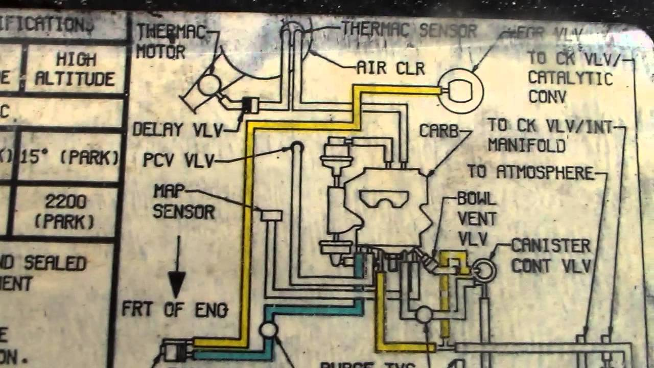 Chevrolet 305 Engine Vacuum Routing Diagrams