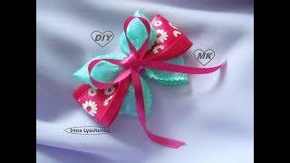 Бант из лент МК/DIY Ribbon bow/ PAP Laço de fitas Tutоrial #122