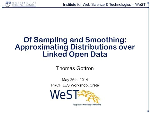 Of Sampling and Smoothing: Approximating Distributions over Linked Open Data