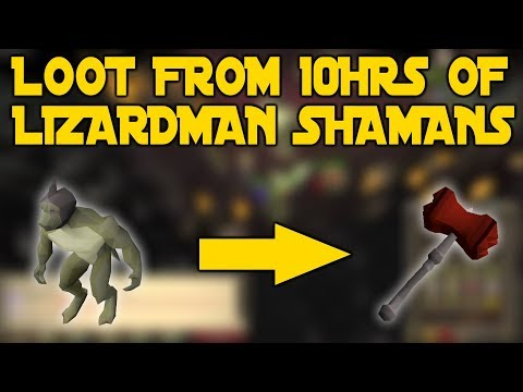 LOOT From 10hrs Of Lizardman Shamans | Are They Good GP/H??