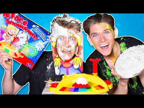 PIE FACE BATTLE CHALLENGE!!! (Extremely GROSS & NASTY Game)