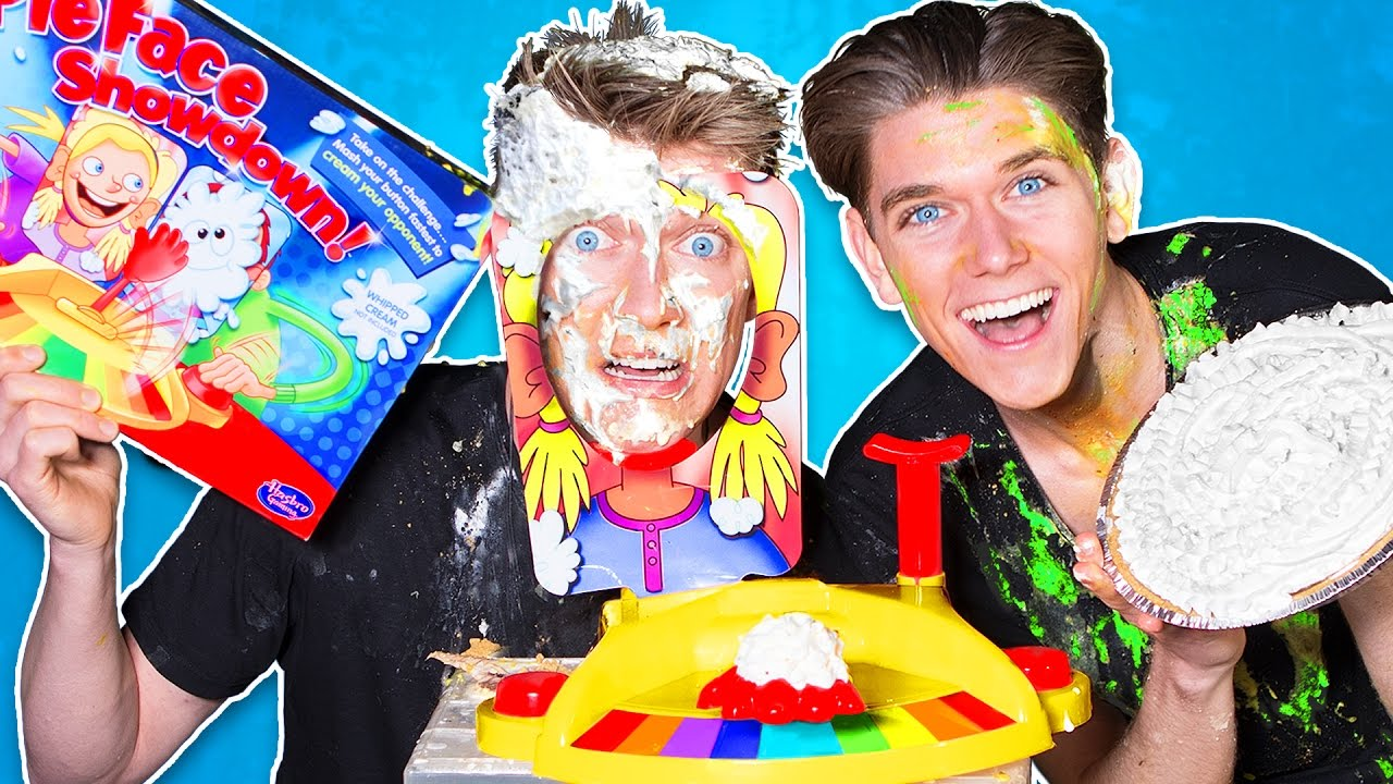 423065f4cd0fd PIE FACE BATTLE CHALLENGE!!! (Family Friendly Edition) - YouTube