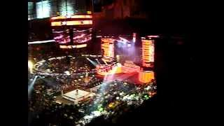 wwe royal rumble 2011 live opening introduction with fireworks display td garden boston ma