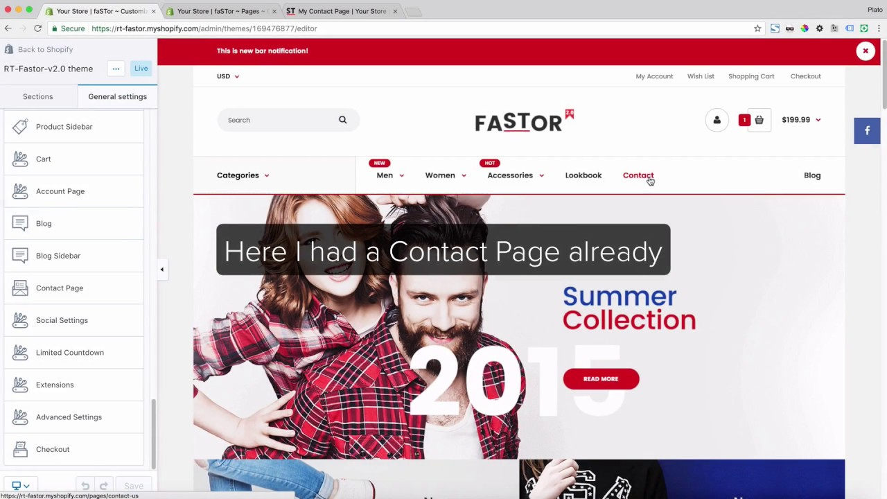Fastor - General - Contact Page