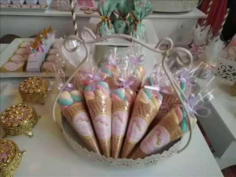 Unicornio baby shower1 youtube - Decoraciones de peceras ...