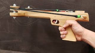How to Make a Slingshot Crossbow Pistol