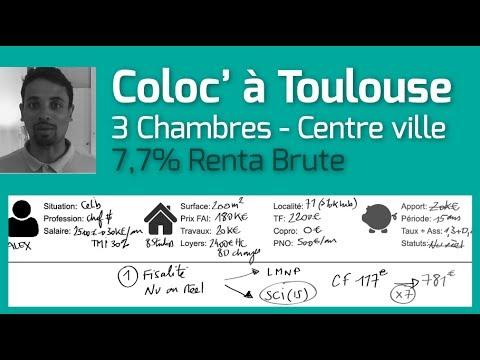 7,7% de Renta Brute pour une Colocation à Toulouse [Analyse Immo]