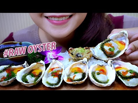 ASMR Kaki sashimi (Raw Oysters and Baked oysters) Slurping EATING SOUNDS | LINH-ASMR