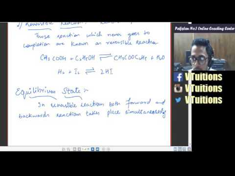 Chapter 6 Chemical Equilibrium Chemistry First Year Class - Sindh Board in urdu and Hindi
