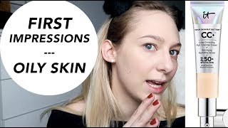 IT COSMETICS CC CREAM first impressions - OILY SKIN