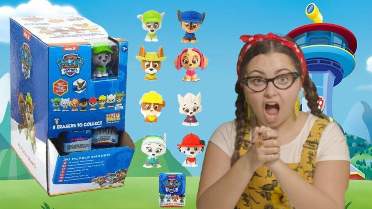 Download Paw Patrol Toys Blind Boxes - Puzzle Palz 3D Puzzle Erasers Unboxing - Surprise Ending